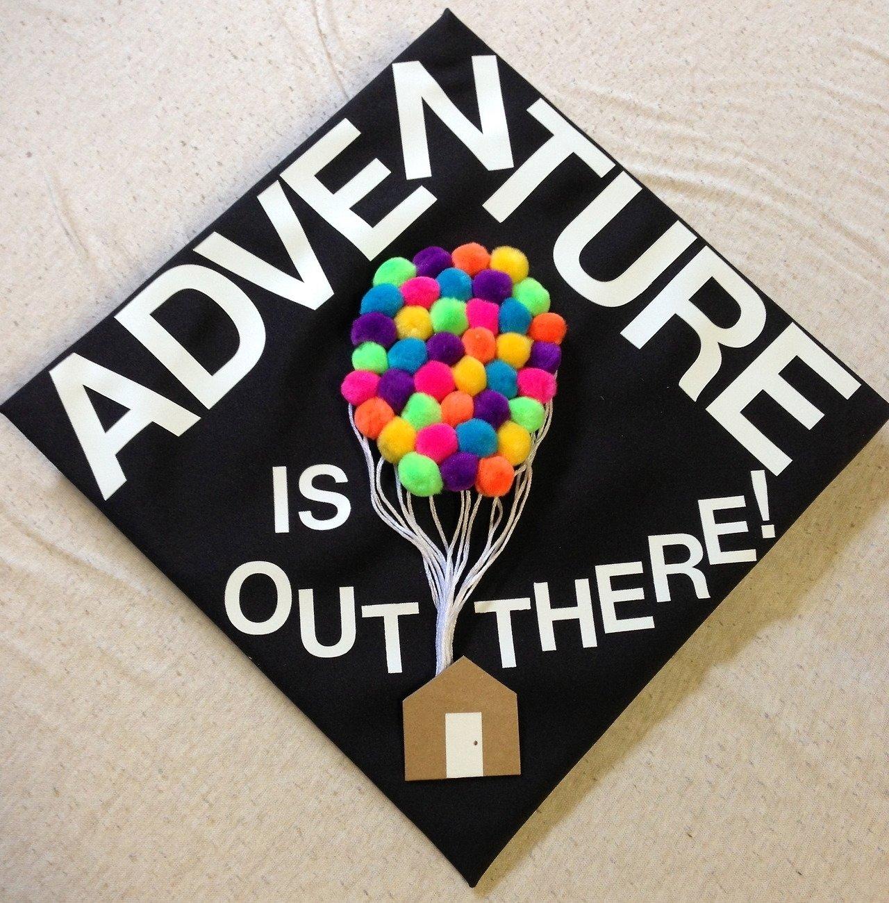 10 Most Recommended College Graduation Cap Decoration Ideas disney pixar graduation caps diy cap decoration ideas for graduates