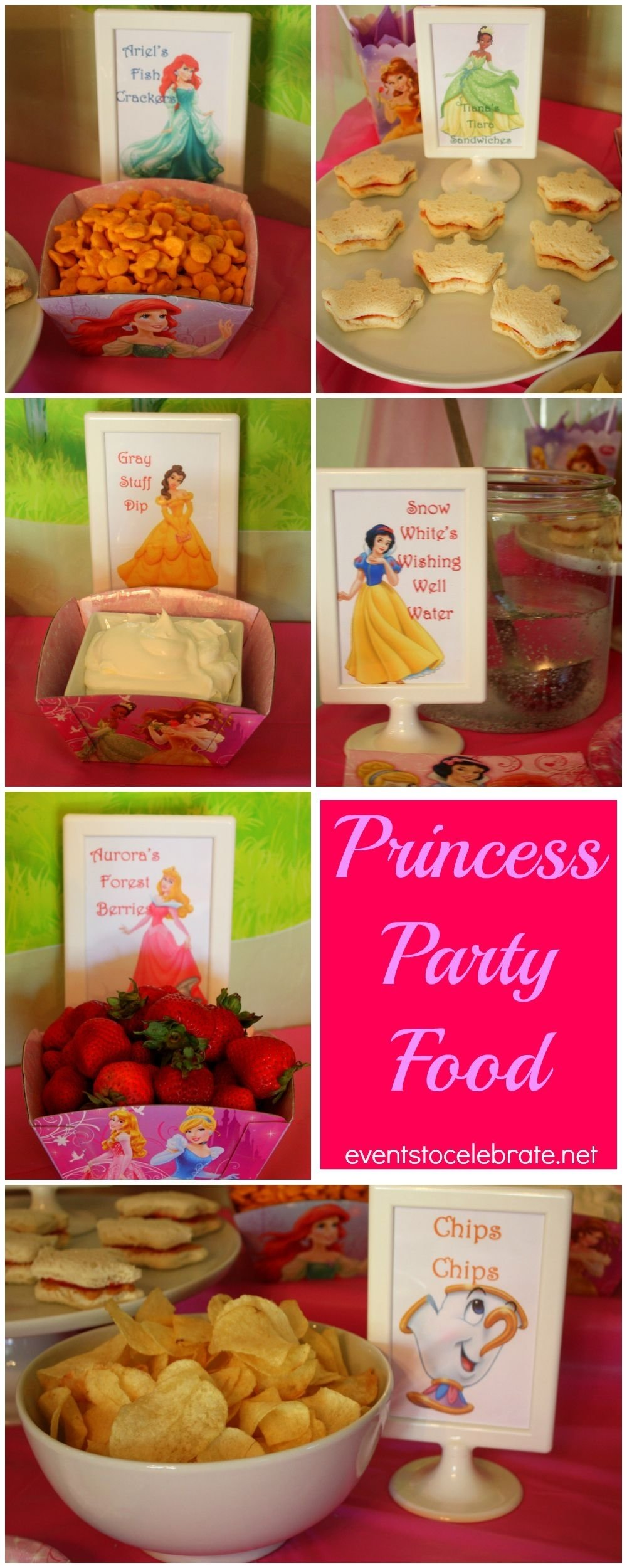 disney princess birthday party ideas: food & decorations | prince
