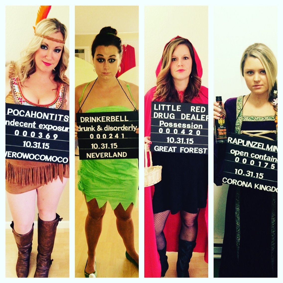 10 Elegant Costume Ideas For Groups Of 4 disney princess criminals besthalloween costumes ever halloween 4 2020