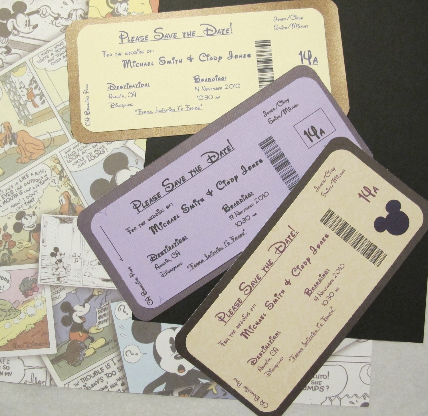 10 Amazing Cute Save The Date Ideas disney themed save the date invite boarding pass disney tickets