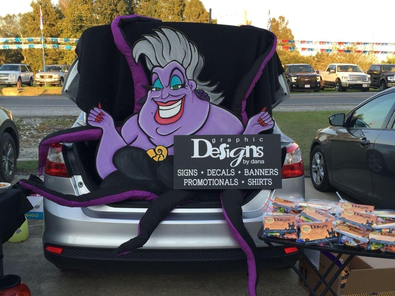 10 Nice Halloween Trunk Or Treat Ideas disney villain trunk or treat disneyvillain trunkortreat ursula 4 2020