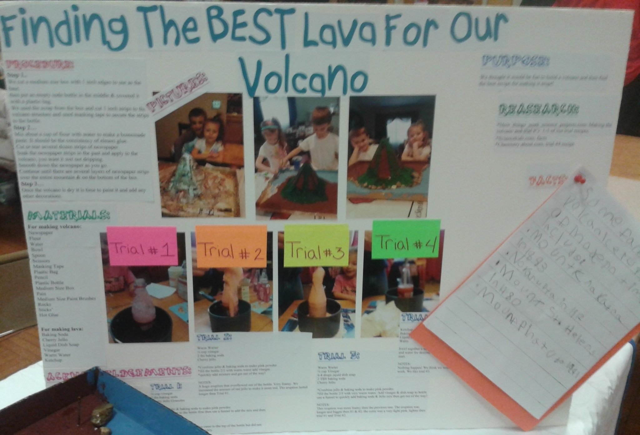 10 Cute Volcano Science Fair Project Ideas display board for science fair project alexa anthony made a 2020