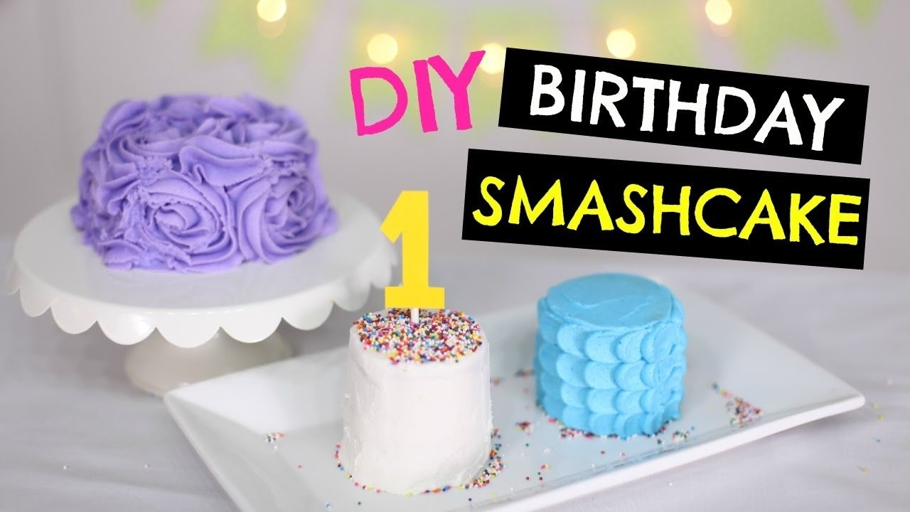 10 Unique First Birthday Smash Cake Ideas diy 1st birthday smash cake for baby 3 ways to decorate youtube 2020