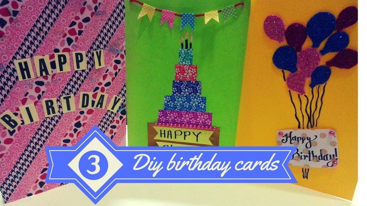 10 Stylish Good Ideas For Birthday Cards diy 3 easy greeting card ideas birthday cards for best friends 2020