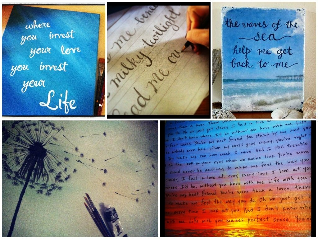 diy- 3 more ways to paint personalized quotes on canvas