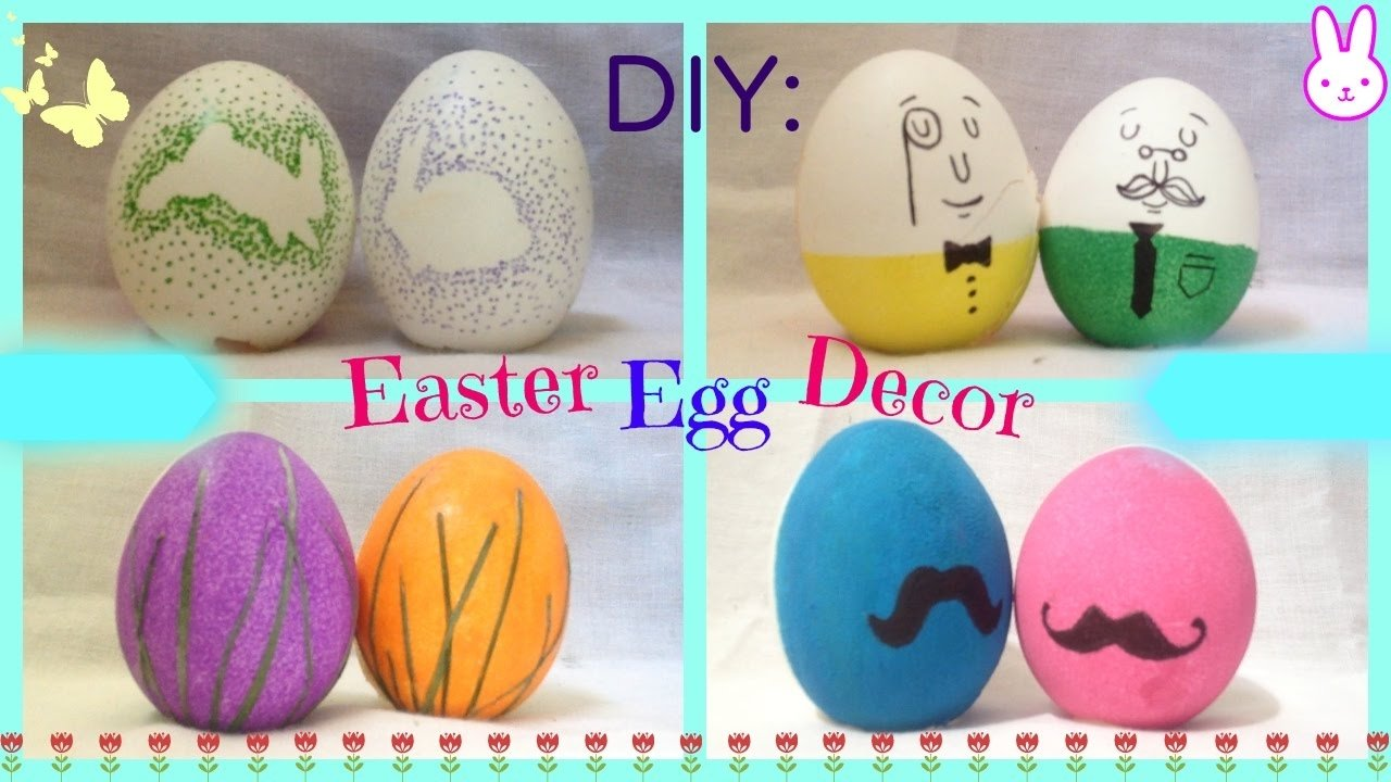 10 Cute Cool Easter Egg Decorating Ideas diy 4 easter egg decorating ideas quick cute and easy youtube 2020