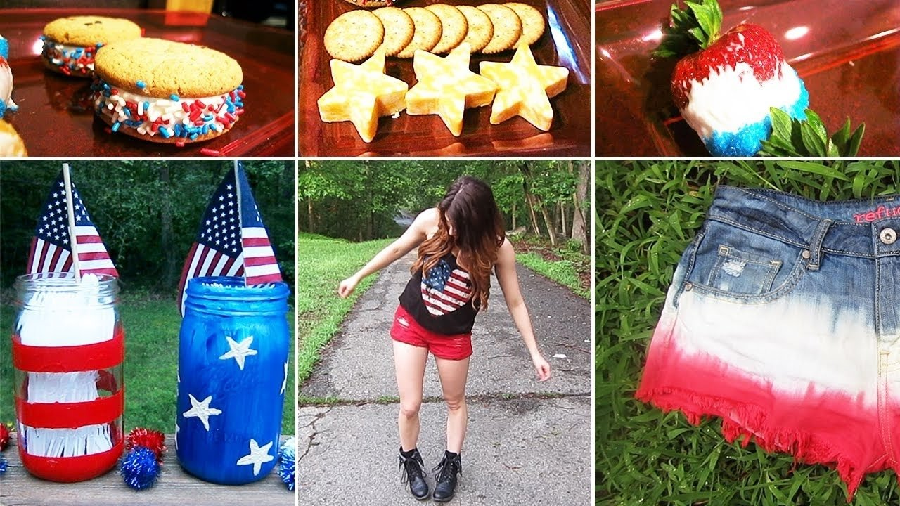 10 Beautiful Ideas For The 4Th Of July diy 4th of july ideas desserts outfits dip dyed shorts 1 2021