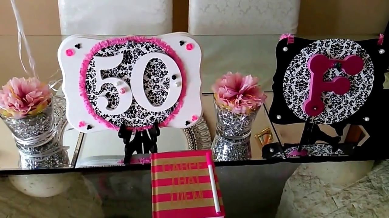 diy 50th birthday decor party theme - youtube
