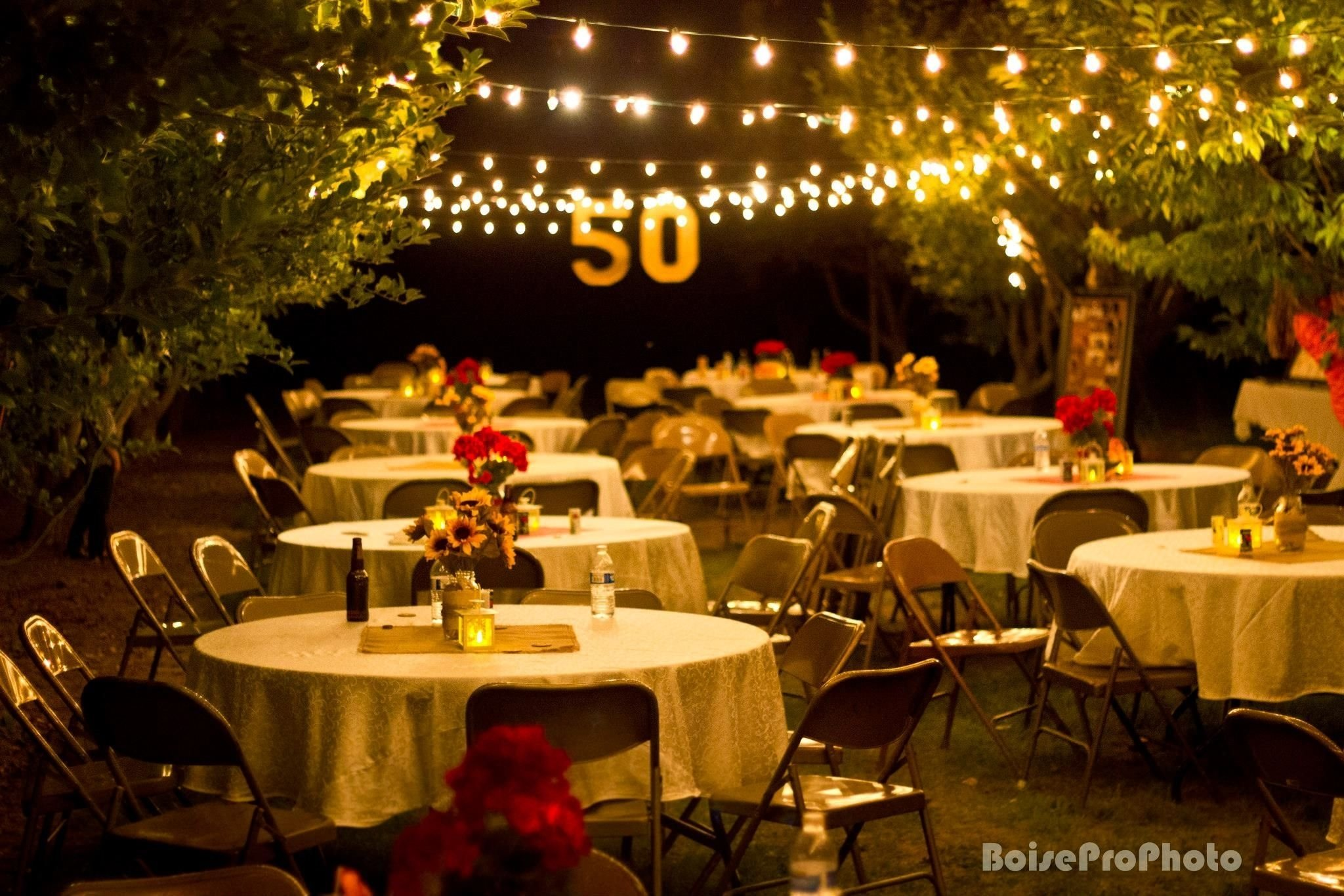 diy 50th wedding anniversary party from salty bison | anniversary
