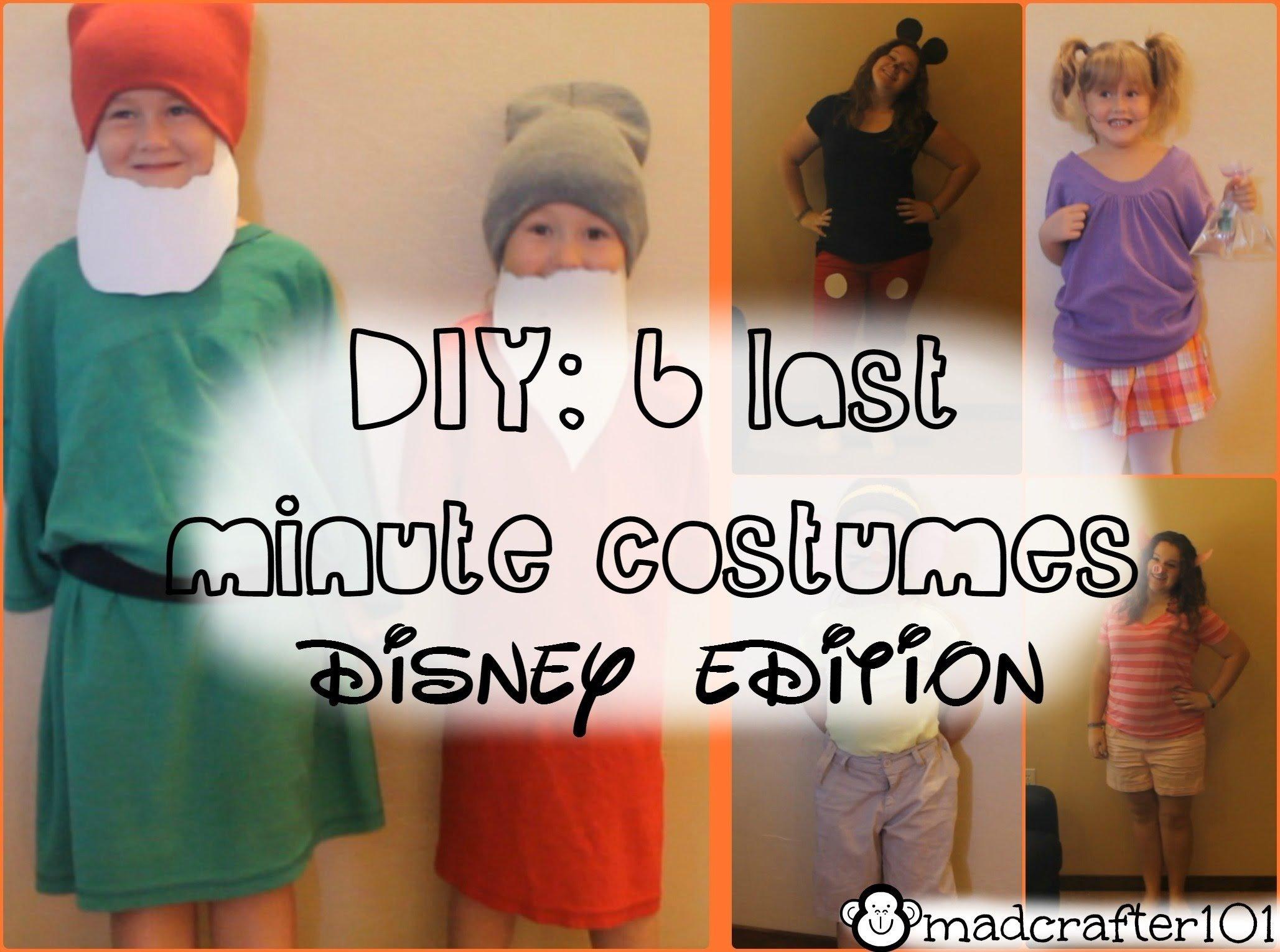 10 Beautiful Disney Character Dress Up Ideas diy 6 last minute halloween costumes disney edition youtube 2020