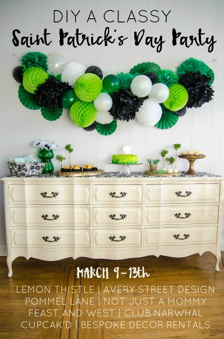 10 Lovable St Patrick Day Party Ideas diy a classy saint patricks day party giant honeycomb garland 2020