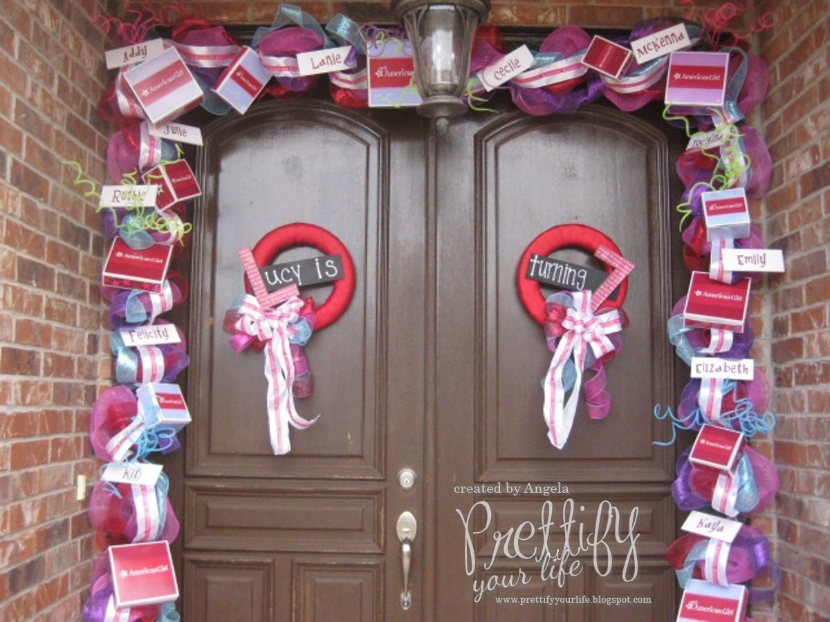 10 Great American Girl Doll Birthday Party Ideas diy american girl doll birthday party door decor your life 1 2020