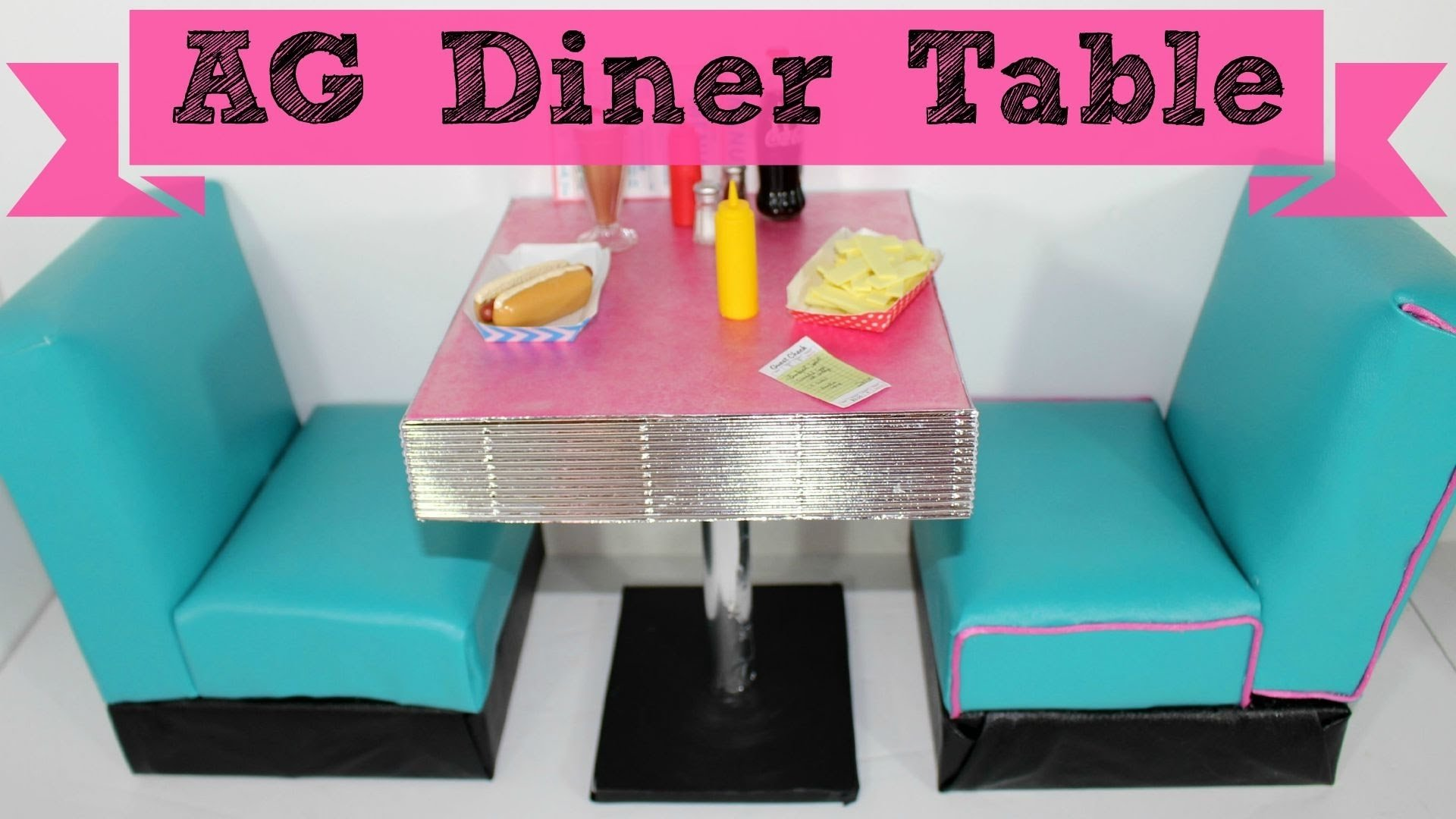 diy american girl doll diner table - youtube