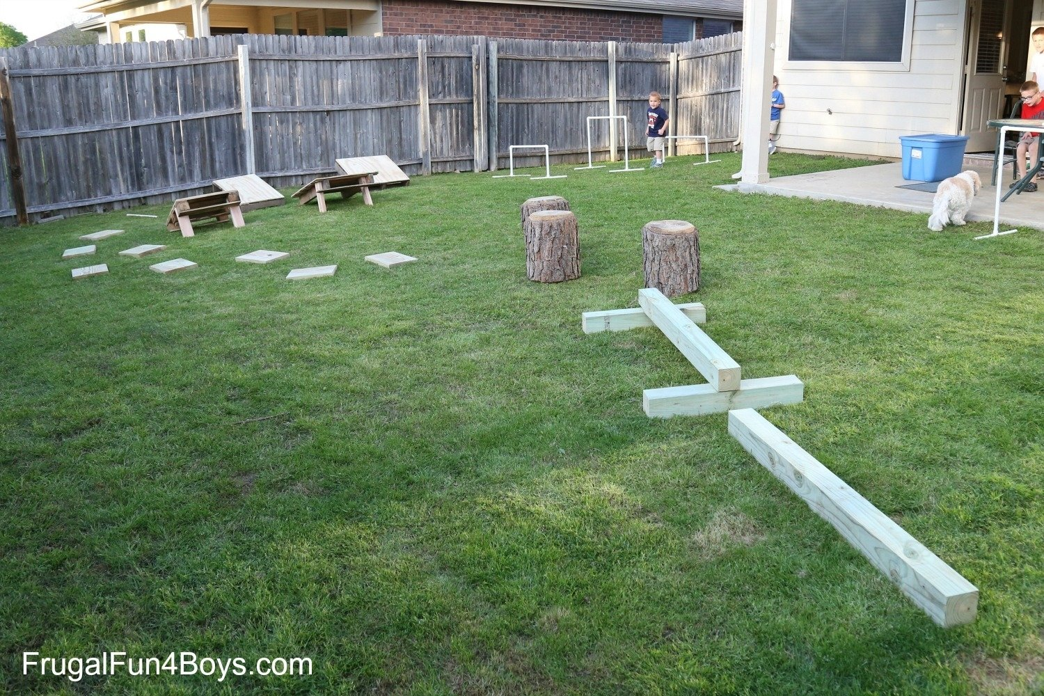 10 Fashionable Obstacle Course Ideas For Kids diy american ninja warrior backyard obstacle course 1 2021