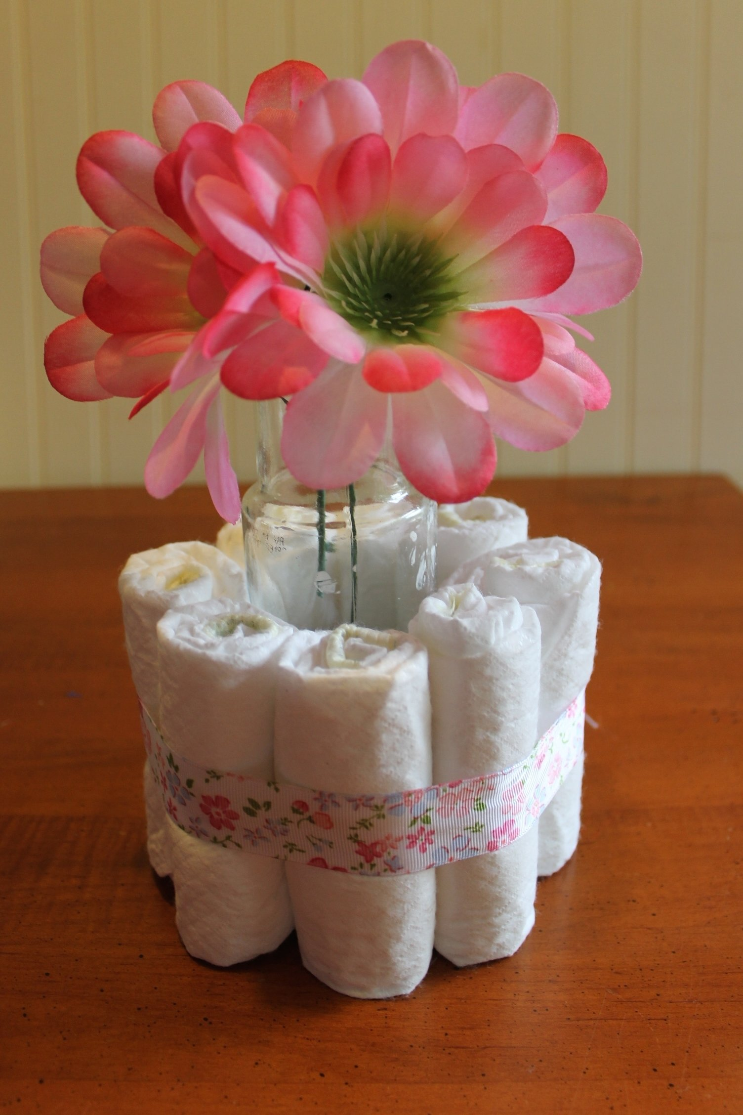 10 Most Popular Baby Shower Table Centerpiece Ideas diy baby shower centerpieces using diapers frugal fanatic 2 2021