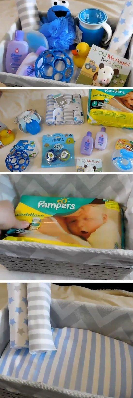 10 Beautiful Boy Baby Shower Gift Ideas diy baby shower gift basket ideas for boys baby shower gift basket 2 2020