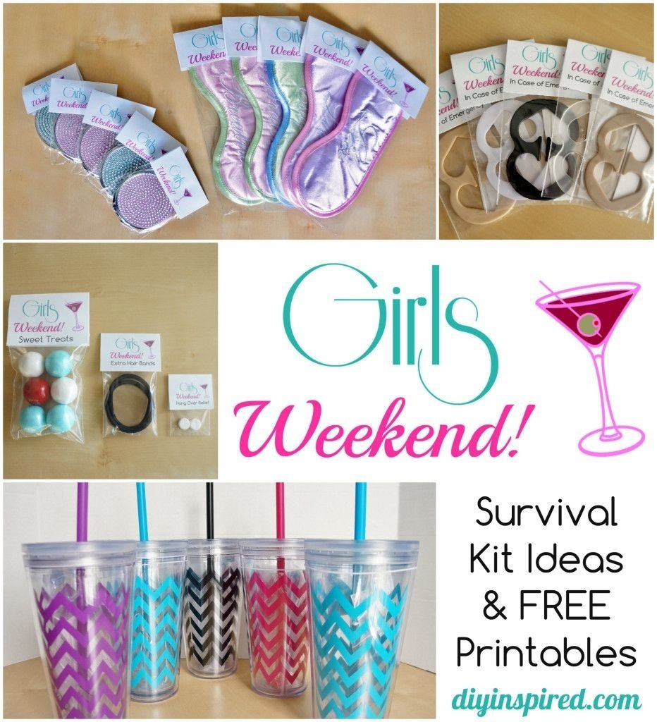 10 Lovely Girls Weekend Gift Bag Ideas diy bachelorette party favor ideas free printable diy bachelorette