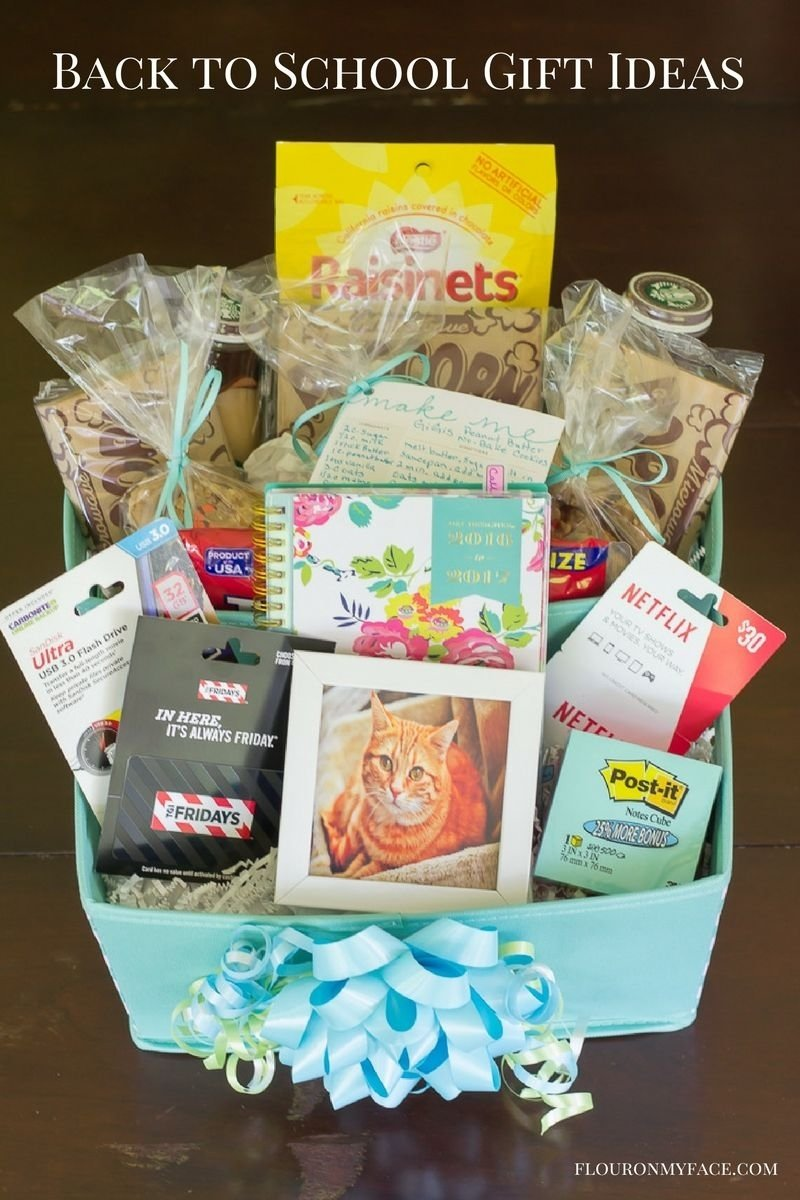 10 Best Gift Card Gift Basket Ideas diy back to college gift basket giftcardmall gcmallbts flour on 2020