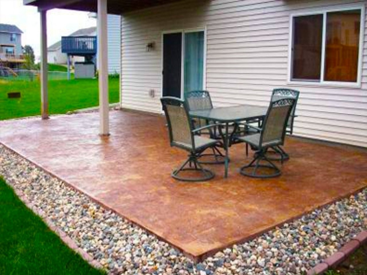10 Lovely Patio Ideas On A Budget diy backyard patio ideas cheap makeovers for on a budget also images 2020