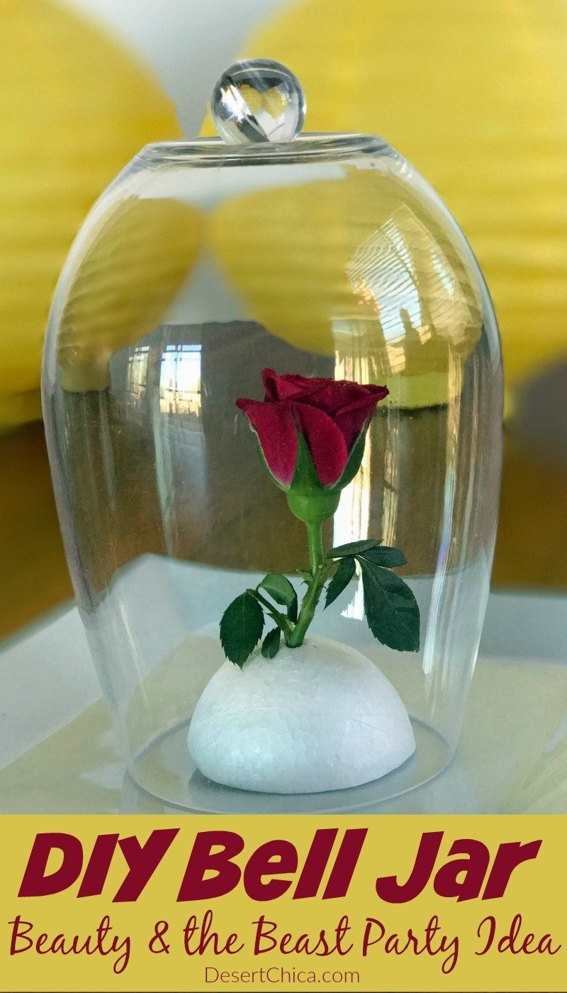 10 Great Beauty And The Beast Party Ideas diy bell jar beauty and the beast party idea desert chica 2021
