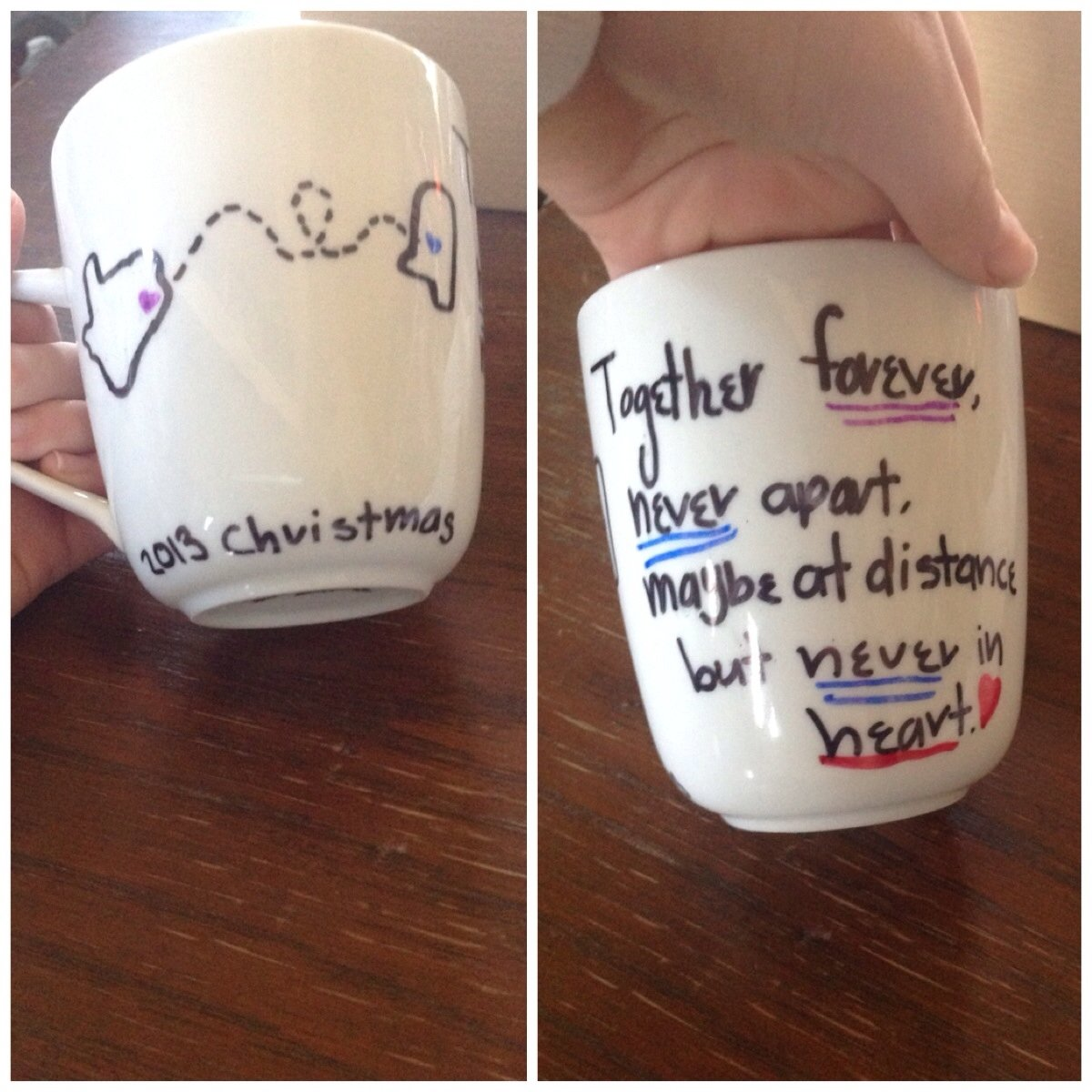 10 Fashionable Cute Christmas Gift Ideas For Friends diy best friend mug made it for my cousin for christmas so cute