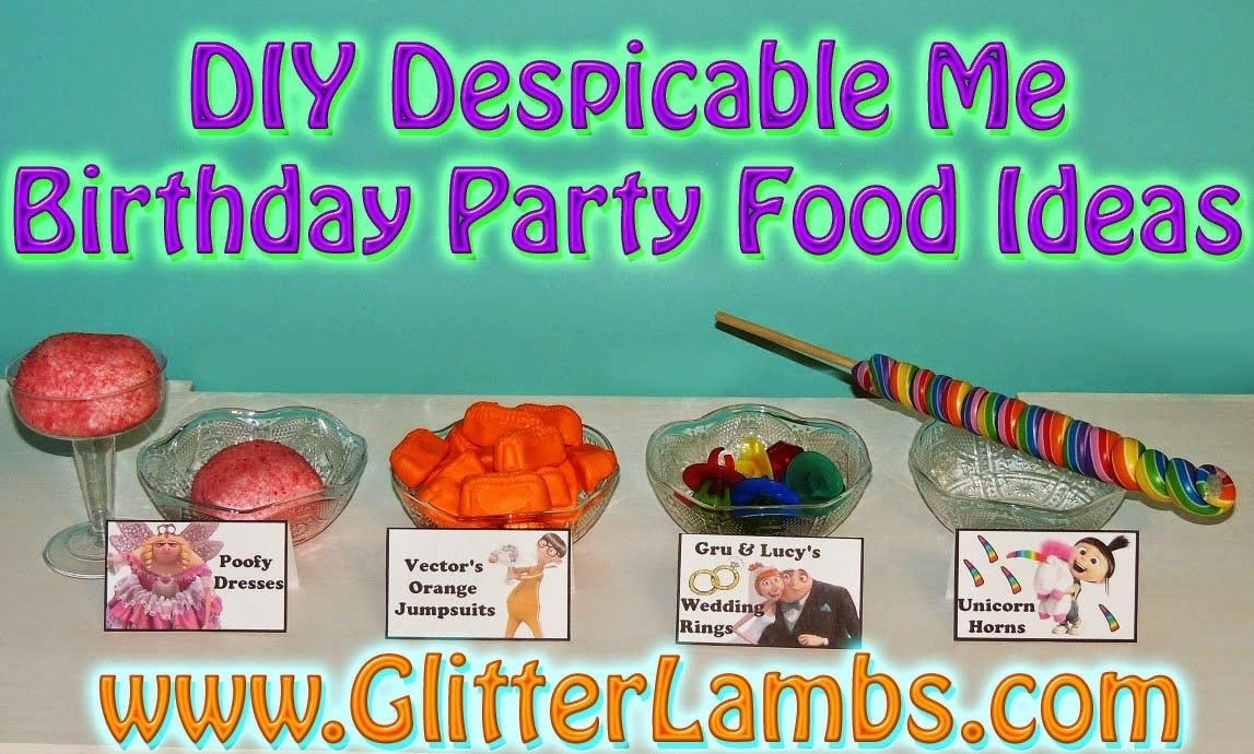 diy birthday blog: diy despicable me birthday party food ideas