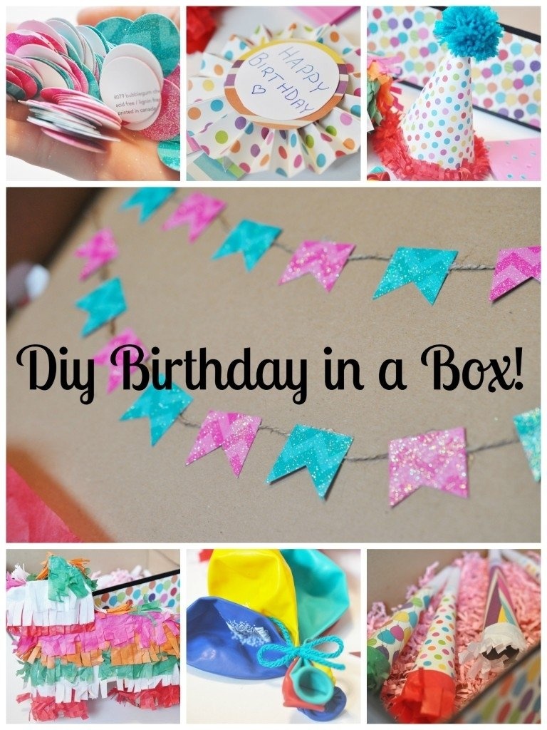 diy birthday in a box (aka: the best gift ever) | little bright eyes
