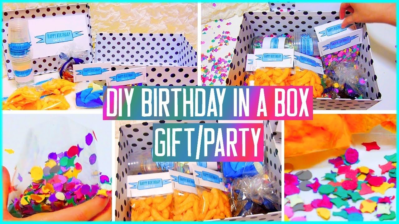10 Amazing Birthday Ideas For A Friend diy birthday in a box throw a mini party for your friend gift idea 1
