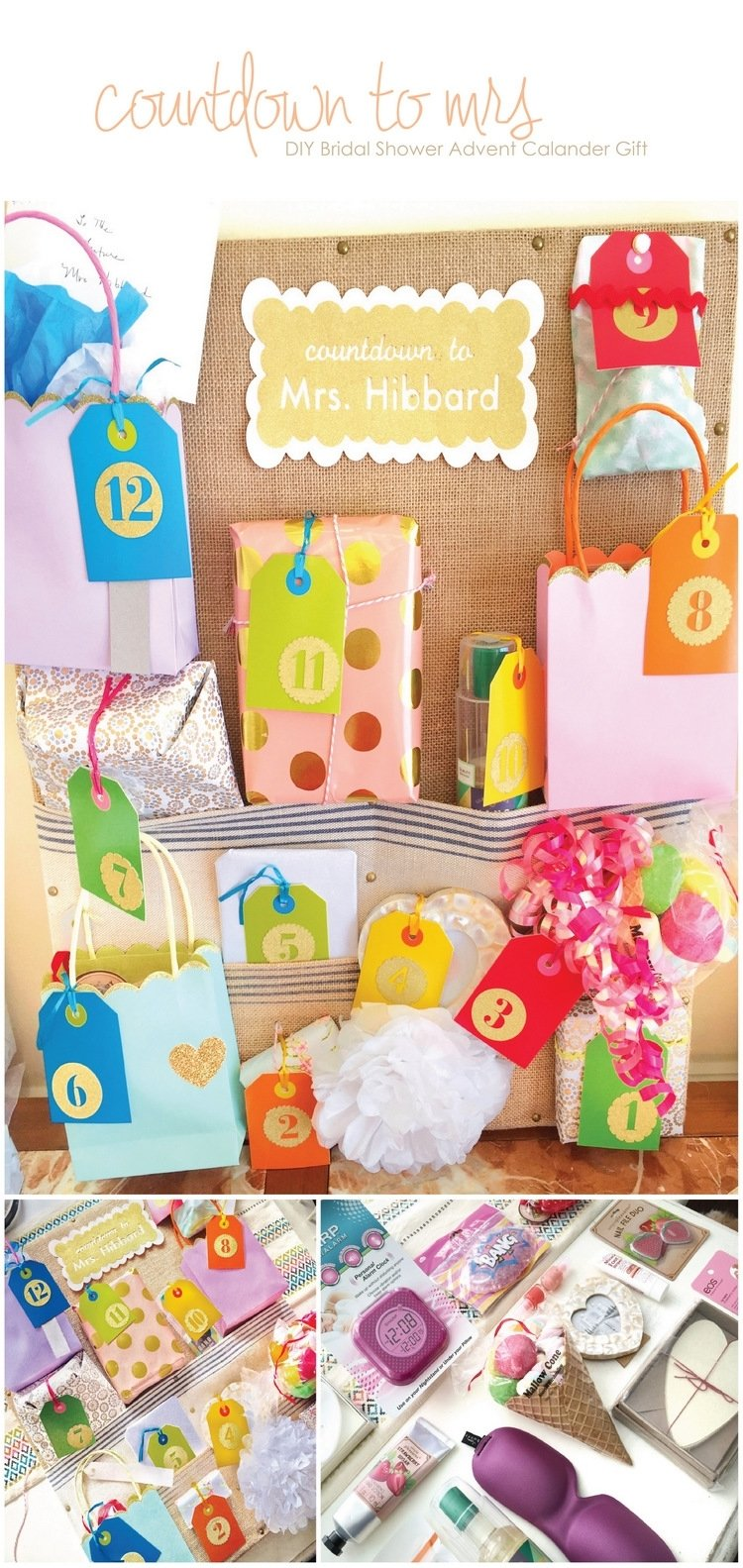10 Trendy Ideas For Advent Calendar Gifts diy bridal shower advent calendar