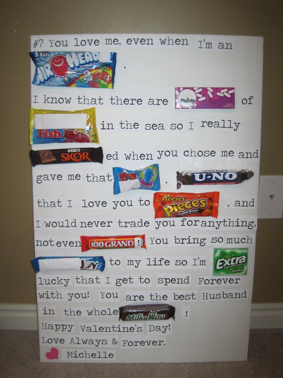 10 Ideal Sweetest Day Ideas For Her diy candy bar valentines card http hative candy bar poster 2020