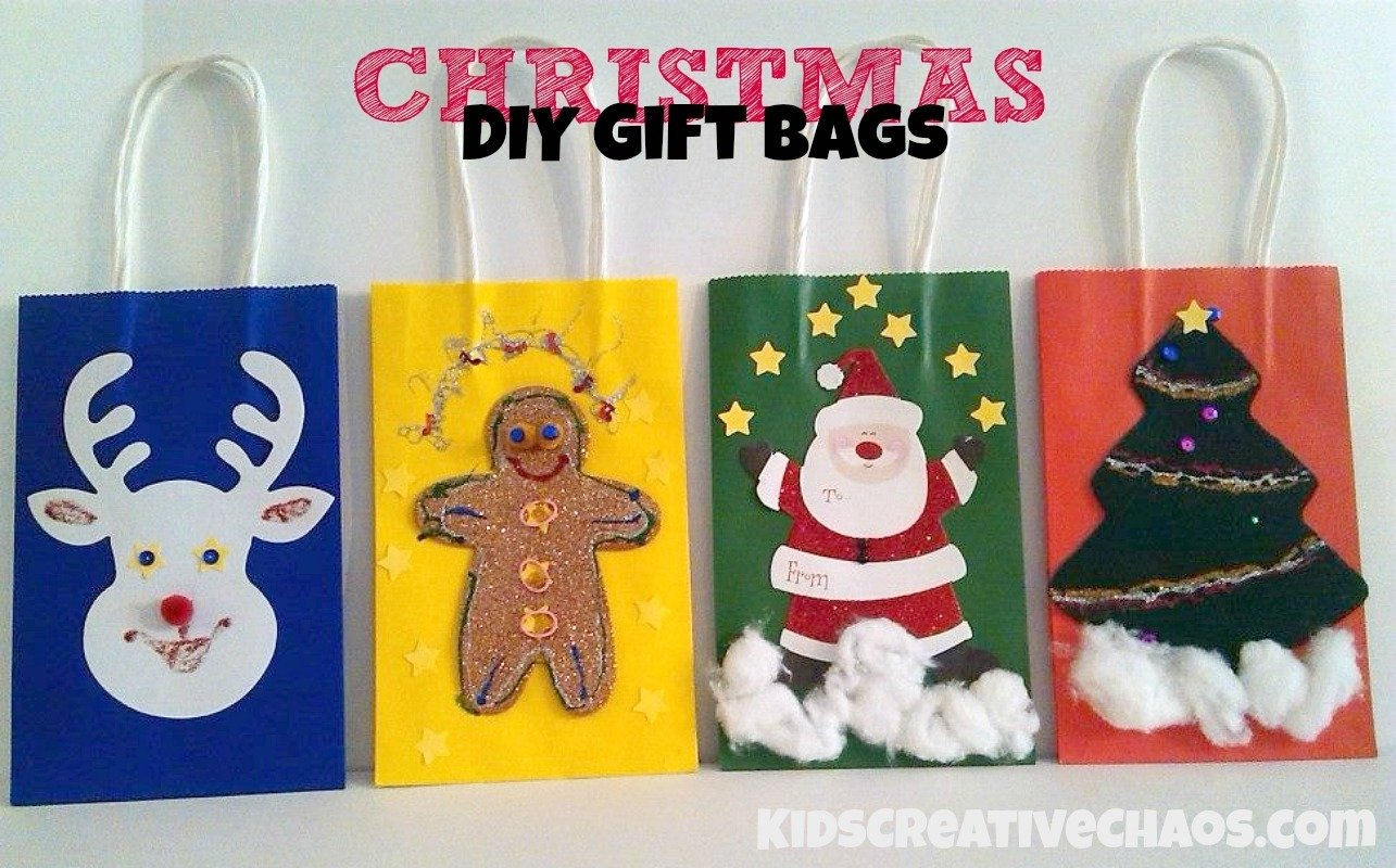 10 Unique Christmas Gift Ideas From Kids diy christmas gift bag ideas kids creative chaos
