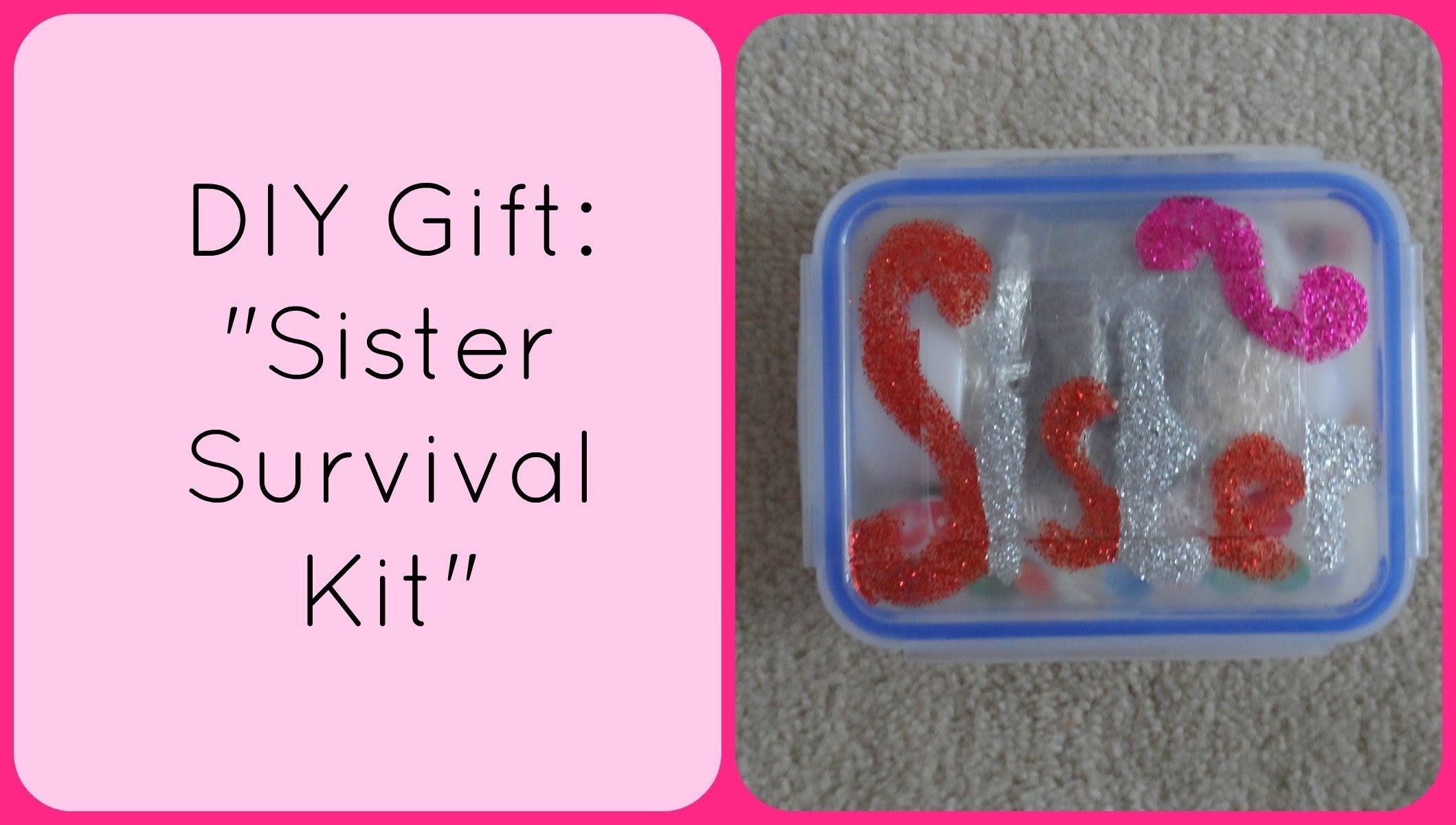 10 Gorgeous Birthday Gift Ideas For Sister diy christmas gift sister survival kit accentgirl100 youtube 2021