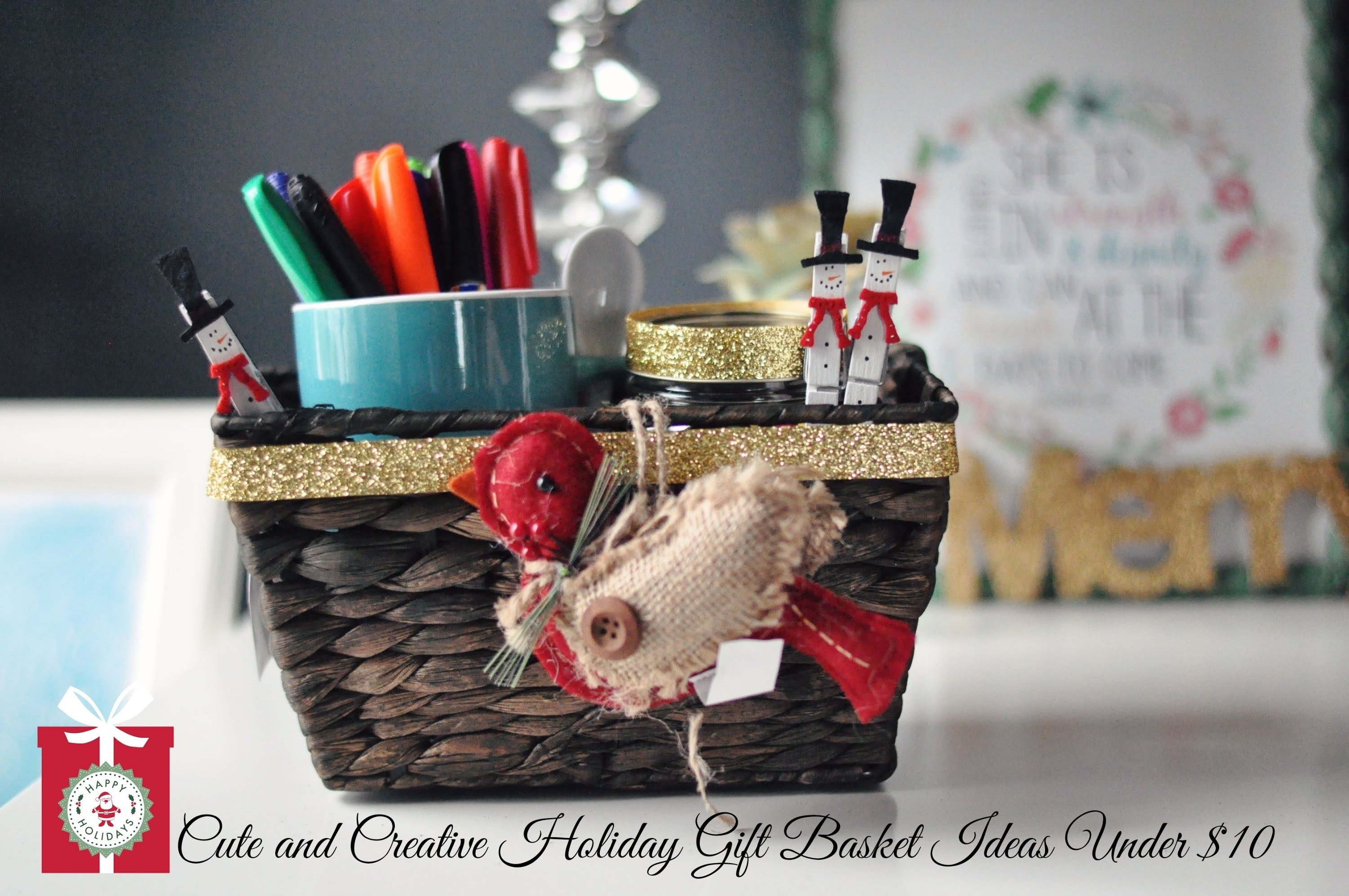 10 Great Homemade Holiday Gift Basket Ideas diy christmas gifts cute creative holiday gift baskets for under 2