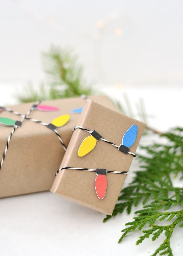 10 Ideal Ideas For Wrapping Gift Cards diy christmas light wrapping paper wrapping papers wrapping paper 2020