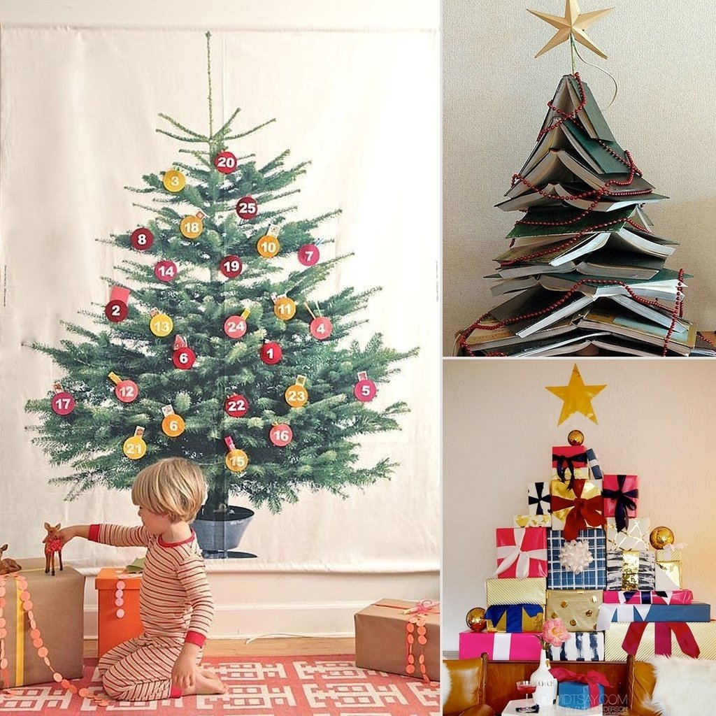 10 Amazing Christmas Tree Ideas For Small Spaces diy christmas trees popsugar home 2020