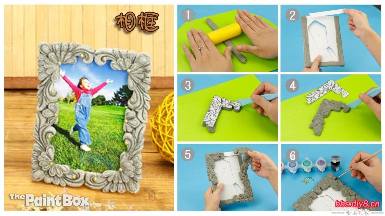 10 Famous Craft Ideas For Picture Frames diy clay border picture frame fabdiy 2020