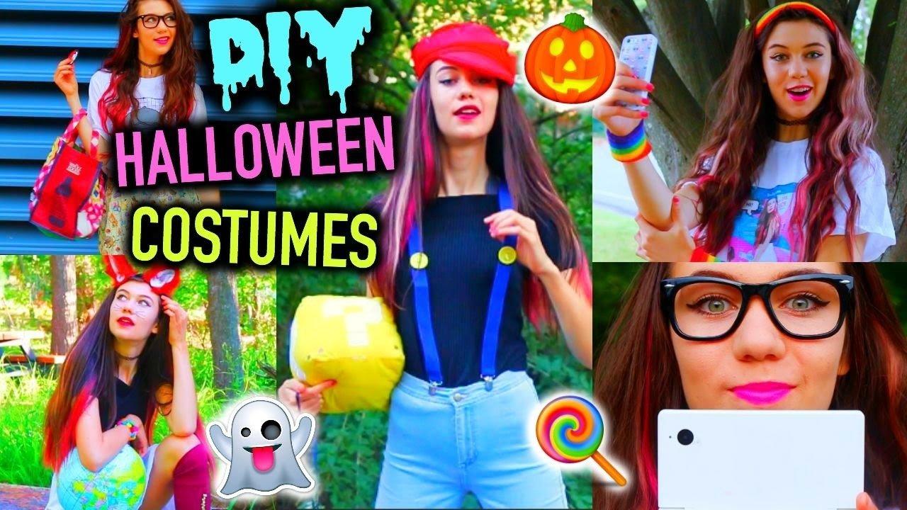 10 Stylish Diy Teenage Halloween Costume Ideas diy clever last minute halloween costume ideas cheap and easy 2020