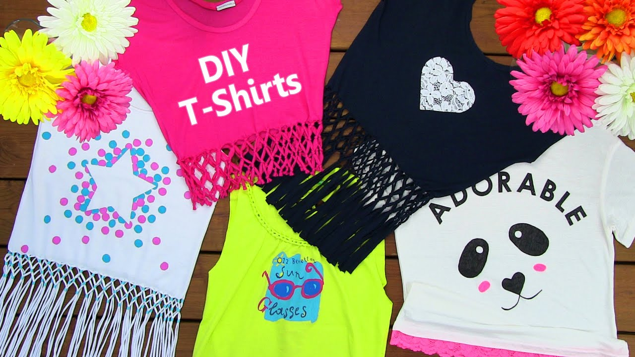 10 Wonderful T Shirt Decorating Ideas For Kids diy clothes diy 5 t shirt crafts t shirt cutting ideas and 2 2020