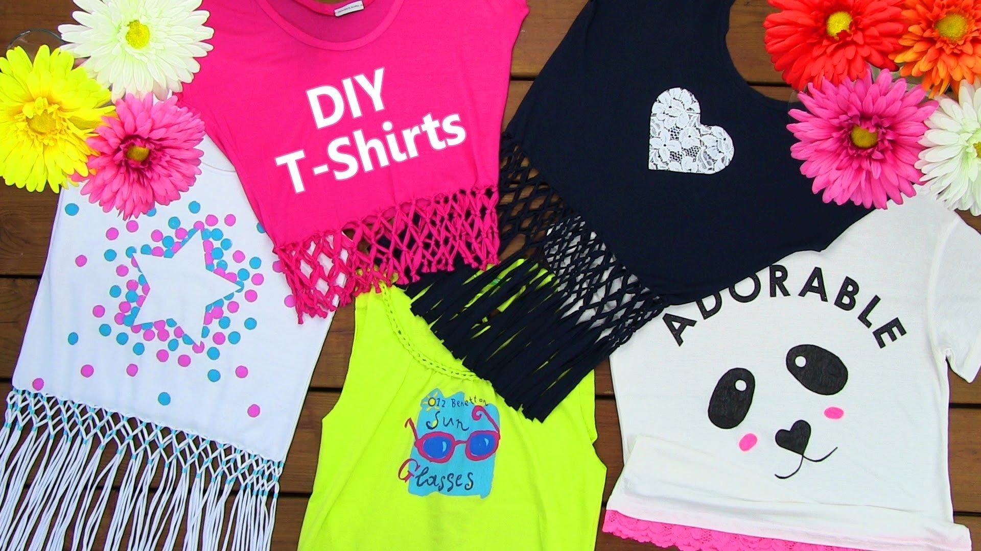 10 Gorgeous Diy T Shirt Design Ideas diy clothes diy 5 t shirt crafts t shirt cutting ideas and 2020