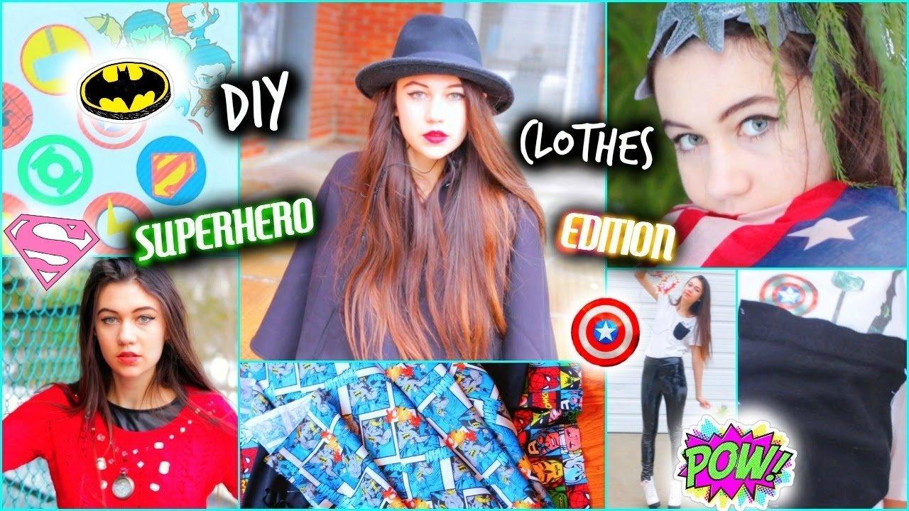 10 Cute Superhero Day Ideas At School diy clothes superhero inspired ideas youtube 2021
