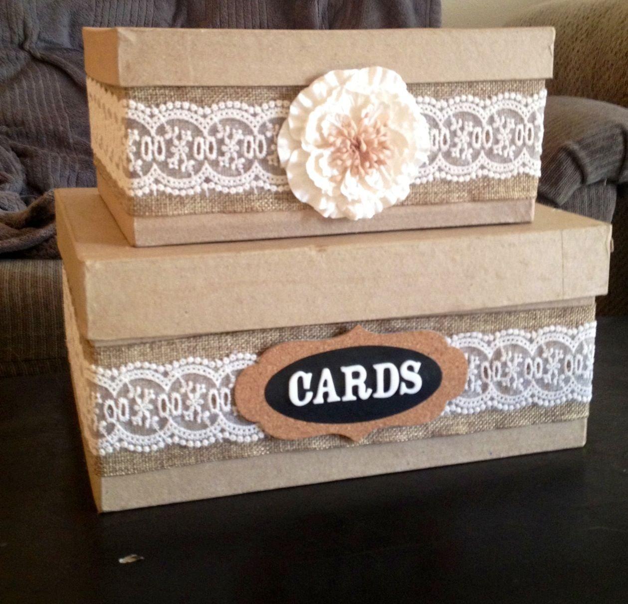 10 Unique Diy Wedding Card Box Ideas diy country wedding card box wedding pinterest country 1
