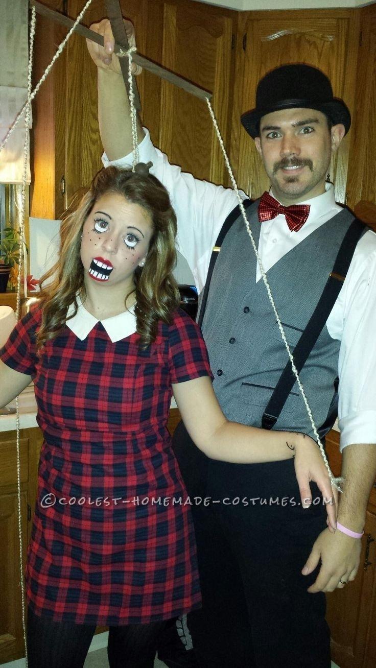 10 Gorgeous Couples Halloween Costumes Ideas Unique diy couples halloween costume as puppet and puppeteer bigdiyideas 2020