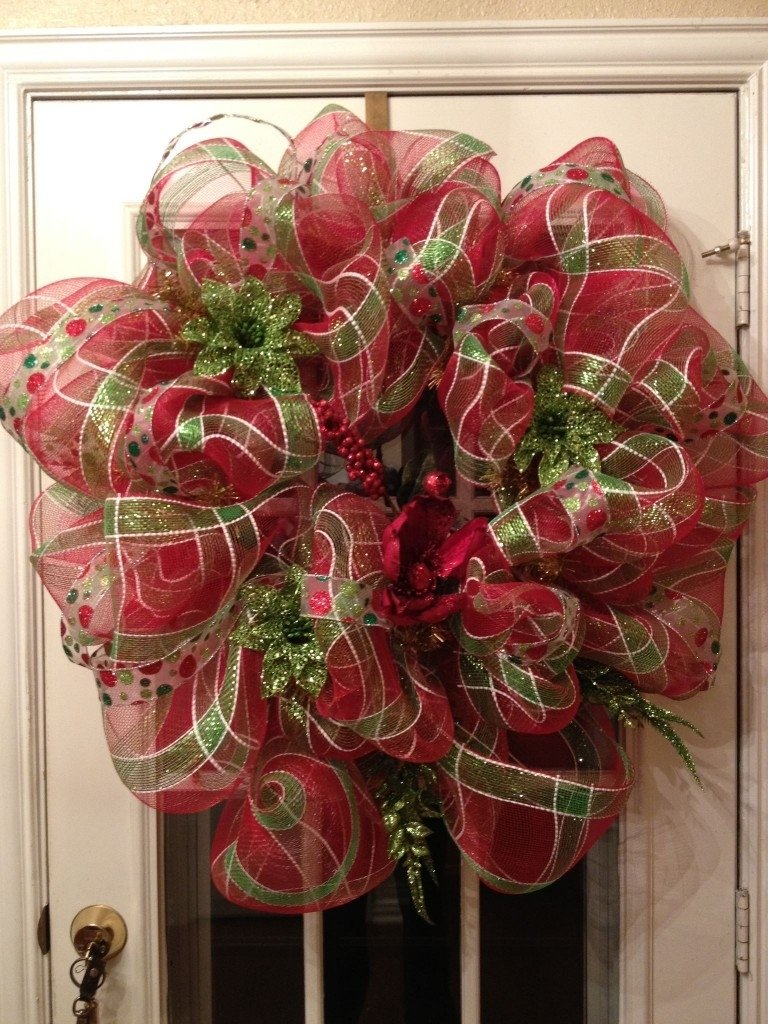 diy deco mesh christmas wreath