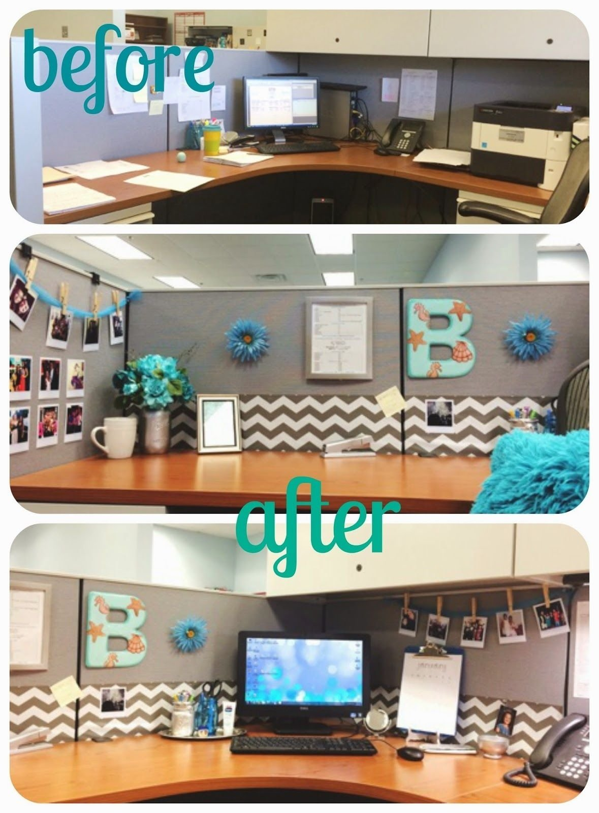10 Unique Desk Decorating Ideas For Work diy desk glam give your cubicle office or work space a makeover 2 2021
