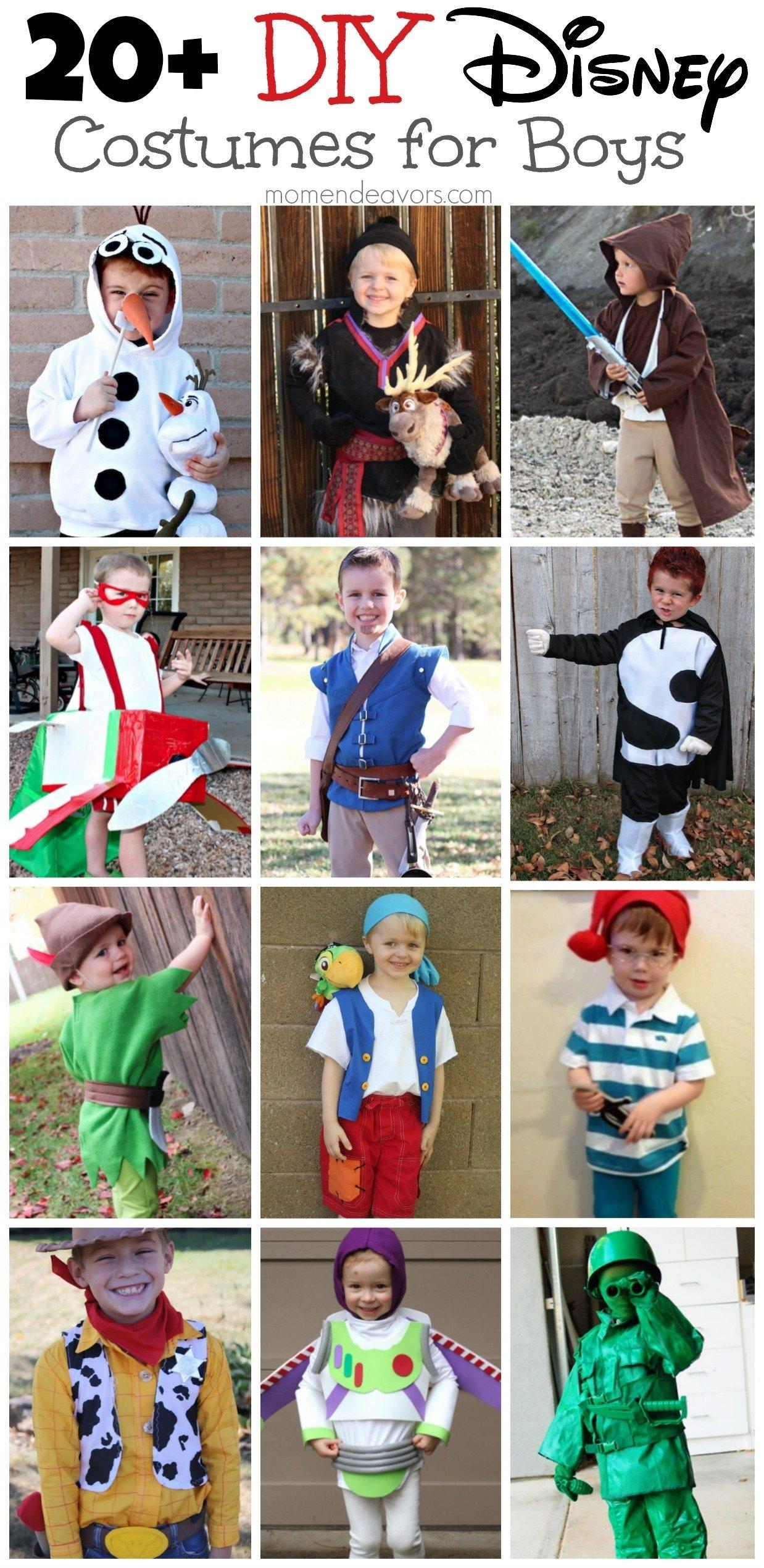 10 Beautiful Disney Character Dress Up Ideas diy disney costumes for boys 2020