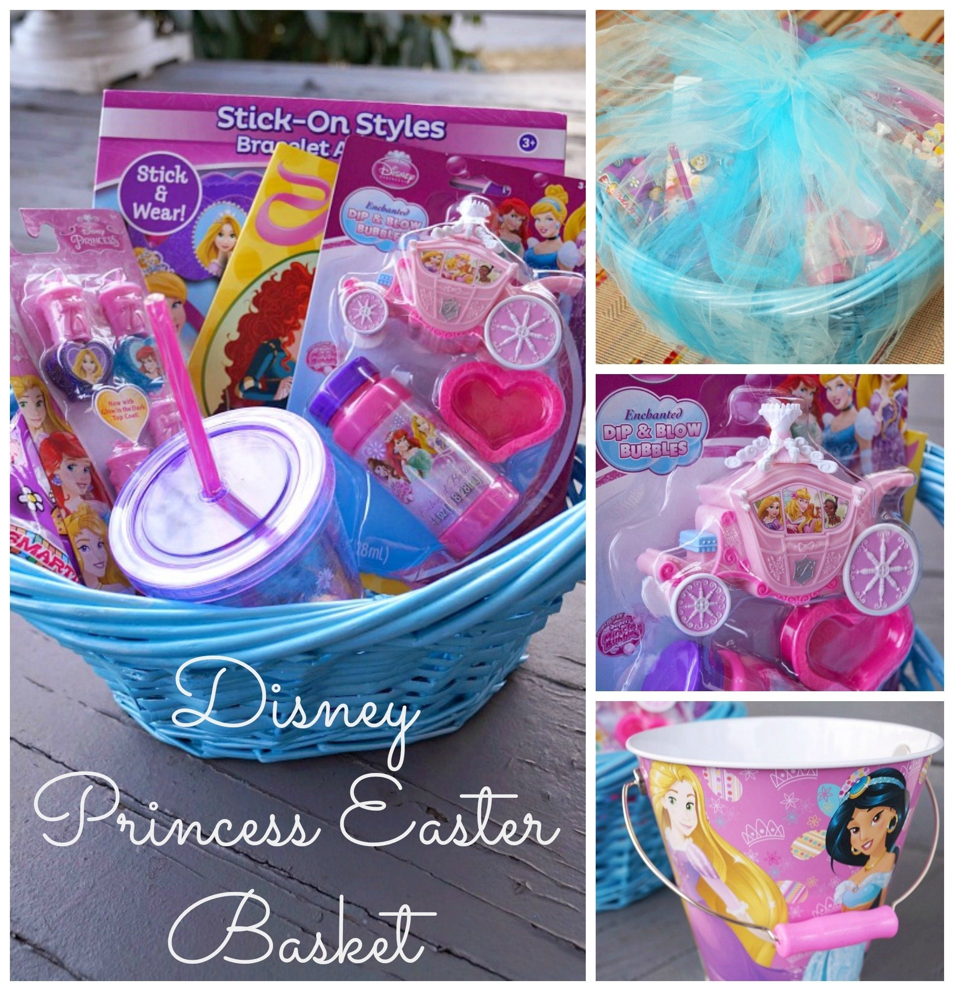 10 Fashionable Gift Basket Ideas For Kids diy disney princess easter basket 2020