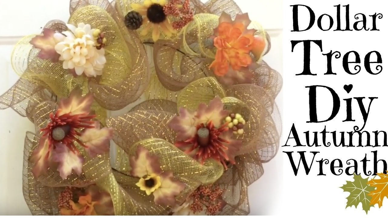 10 Attractive Deco Mesh Fall Wreath Ideas diy dollar tree deco mesh fall wreath youtube