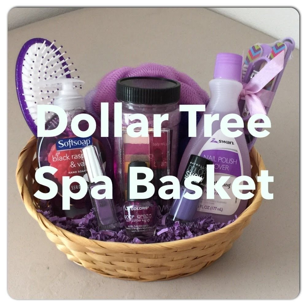 diy dollar tree spa gift basket! for mother's day, valentines