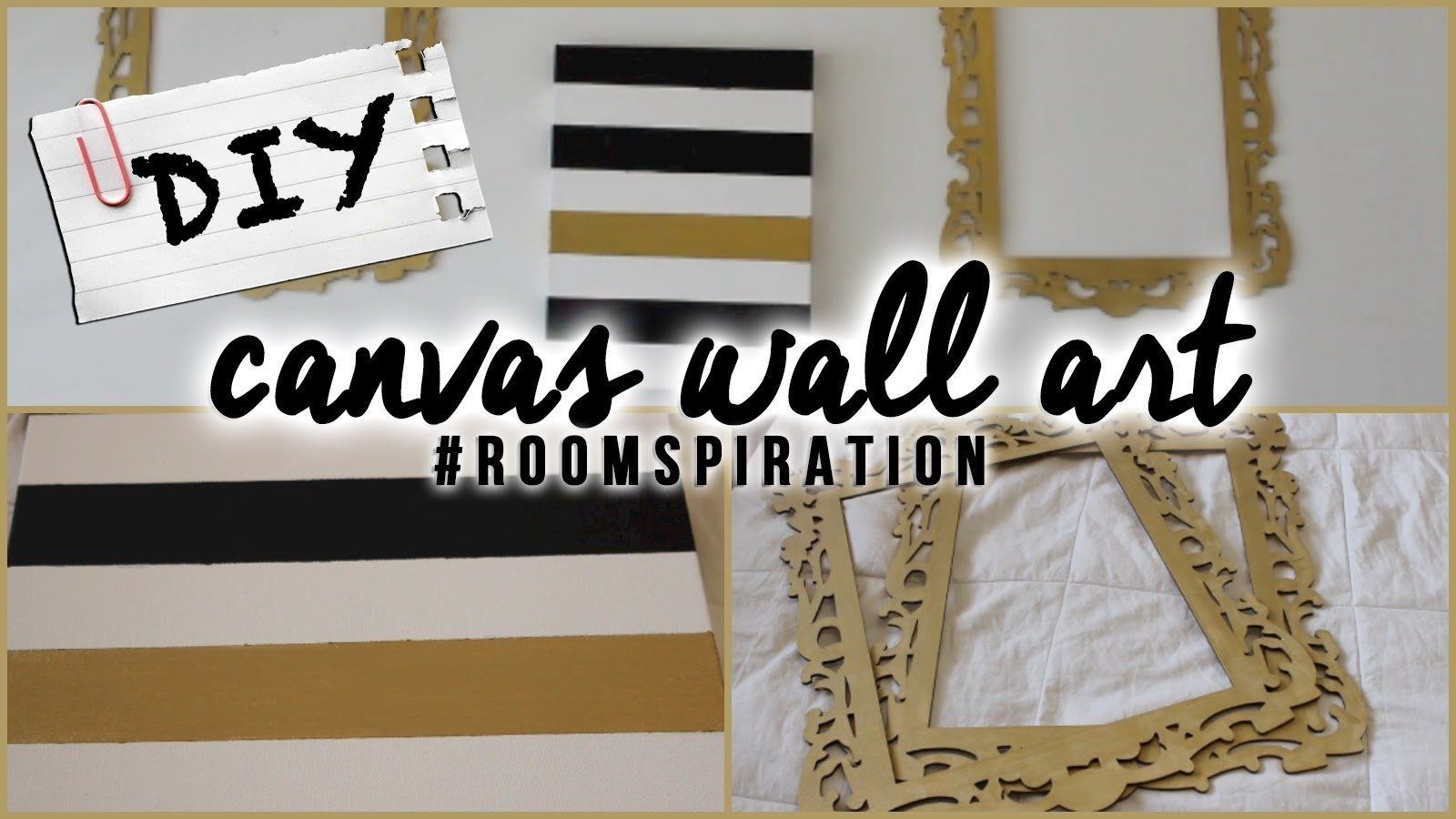 diy: easy canvas wall art - youtube