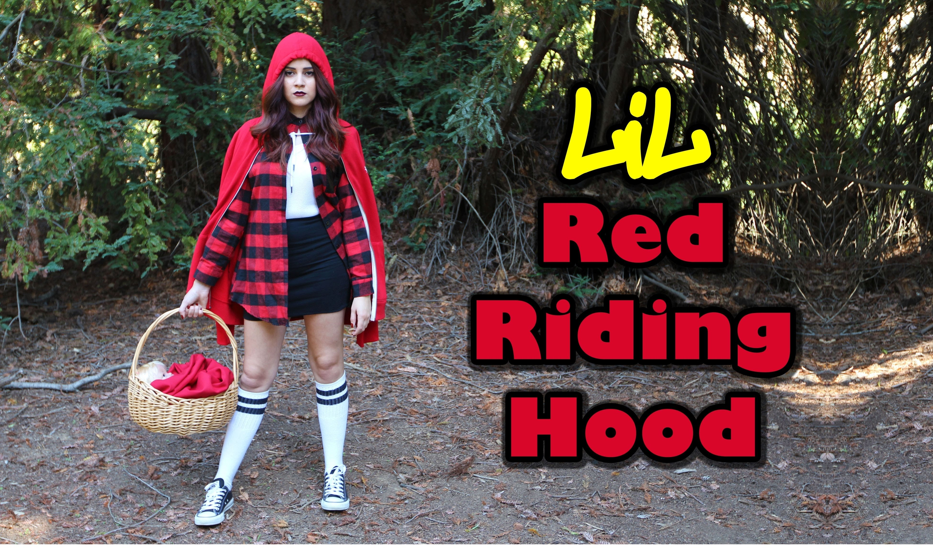 10 Pretty Little Red Riding Hood Costume Ideas diy easy halloween costume chola little red riding hood 2021